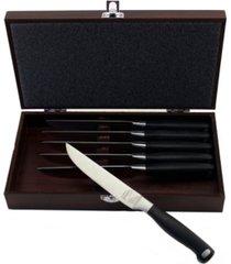 berghoff bistro 6 piece steak knife set with wooden case