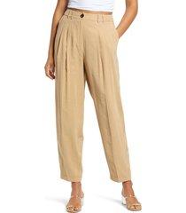 women's vero moda becca wide leg pants, size 8 us - beige