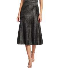 a.l.c. women's nevada lurex knit midi skirt - black gold multi - size l