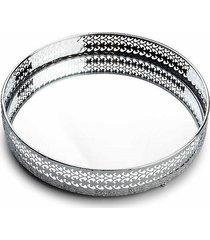 taca metalowa lustrzana silver 21 cm
