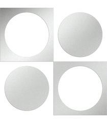 espelho love decor decorativo círculos retro único