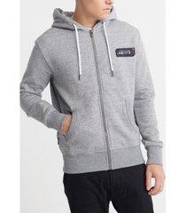 superdry men's core logo black out zip hoodie