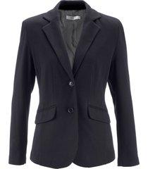 blazer sciancrato in jersey di cotone (nero) - bpc bonprix collection