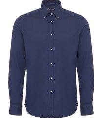 b.d baggies dexter button down shirt - blue b17t18183