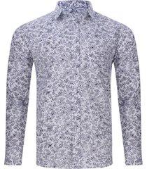 camisa print floral color blanco, talla m