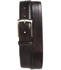 men's magnanni tabon leather belt, size 34 - grey