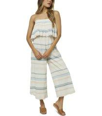 o'neill juniors' cotton kenna printed jumpsuit