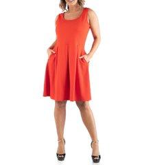 24seven comfort apparel women's plus size sleeveless dress