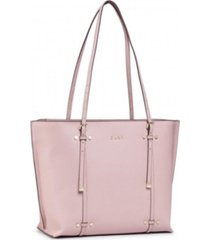 dkny bo leather crosshatched tote