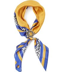 bandana leopard amarillo/azul humana