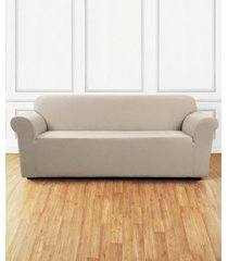 sure fit ultimate stretch chenille one-piece sofa slipcover