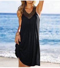 vestido de falda de playa plisado