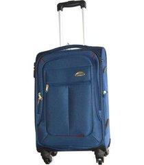 espectacular maleta pequeña 20 pulgadas cabina 4 ruedas 360º lona - azul