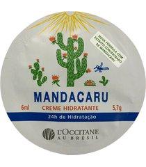 amostra creme hidratante corporal mandacaru 6ml