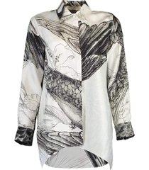 silk scarf shirt