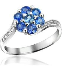 incanto royale designer rings, sapphire and diamond 18k gold ring
