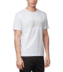 boss men's tee logo white t-shirt