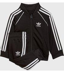 conjunto adidas originals sst tracksuit negro - calce regular