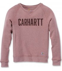 carhartt trui women clarksburg graphic crewneck burlwood heather-xs