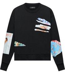 playboy bunny magazine crewneck sweatshirt black