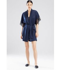 natori plume short sleeves sleep & lounge bath wrap robe, women's, size m natori