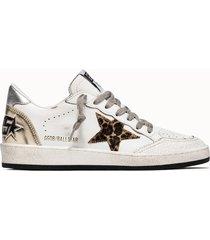 golden goose deluxe brand sneakers ball star net colore bianco animalier