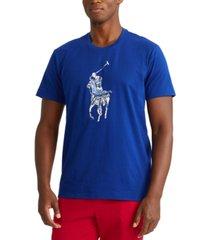 polo ralph lauren men's tie-dye big pony logo lightweight sleep shirt