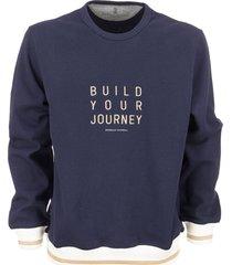 brunello cucinelli crew-neck sweatshirt with embroidery