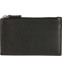 balenciaga grained leather top zipped card holder