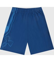 pantaloneta azul under armour ua tech graphic