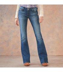sundance catalog women's mia flare jeans in dark wash 24x30