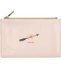 kate spade new york hearts bridal pencil pouch