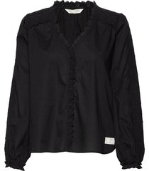 sleeves up blouse blouse lange mouwen zwart odd molly