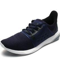 tenis running azul navy-blanco asics gel-kenun lyte mx