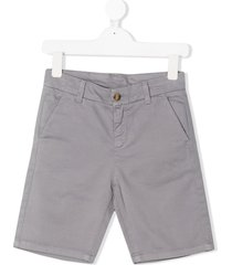 knot party chino shorts - grey