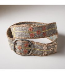 women's flores wool belt