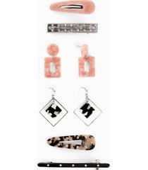 orecchini e accessori per capelli (set 8 pezzi) (rosa) - bpc bonprix collection