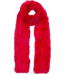 rex rabbit fur scarf