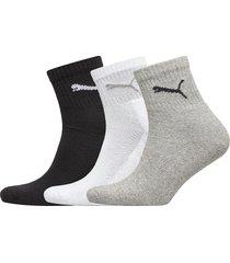 puma short crew 3p unisex underwear socks regular socks grå puma