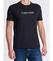 camiseta masculina slim flamê preta calvin klein - pp