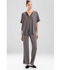 congo dolman pajamas, women's, purple, size xl, n natori