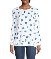 workshop women's star-print long-sleeve top - print - size xl