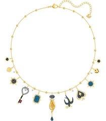 collar tarot magic, multicolor, baño en tono oro