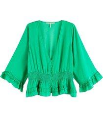 top v-hals groen