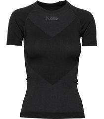 hummel first seamless jersey s/s woman t-shirts & tops short-sleeved svart hummel