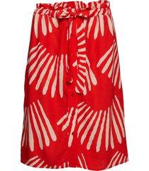 dougie rok knielengte rood stig p