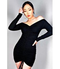 akira weekend rules ruched mini dress