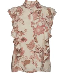 blouse blouse mouwloos beige sofie schnoor