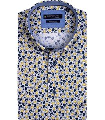 giordano korte mouwen overhemd geel geprint