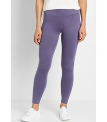 maurices womens high rise purple full length luxe leggings gray